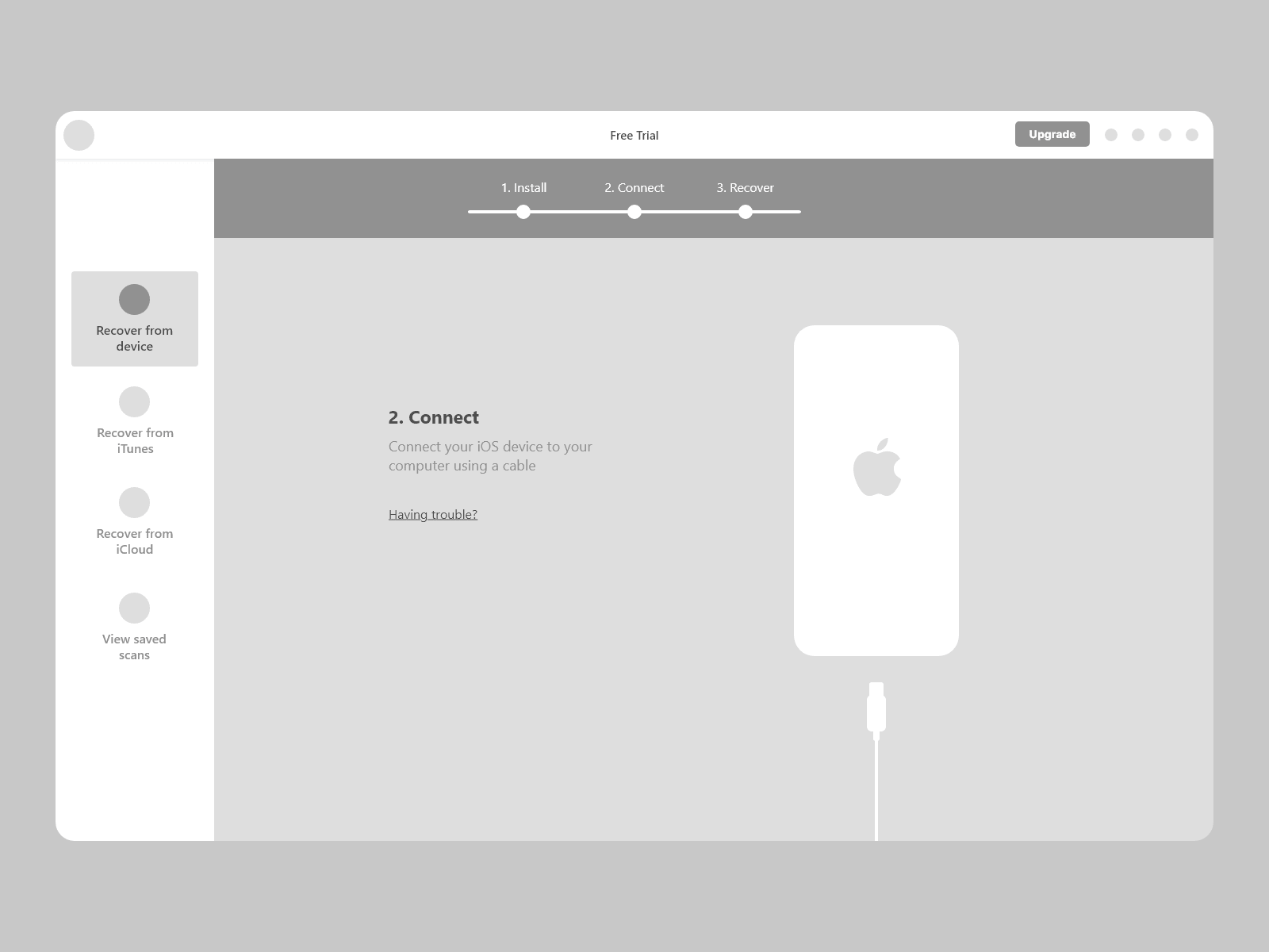 Connect device wireframe
